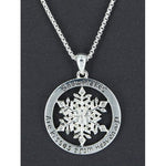 Snowflakes Are Kisses From Heaven Necklace