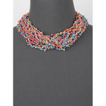 Seed Bead Layered Necklace -- Turquoise Multi