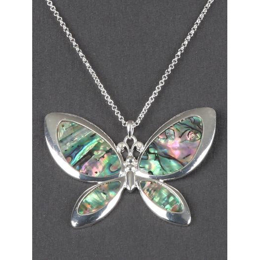 Butterfly Abalone Necklace and Earring Set