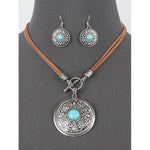 Western Style Necklace and Earring Set