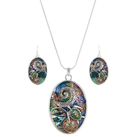 Sea Life Necklace and Earring Set