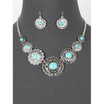 Western Turquoise Necklace Set
