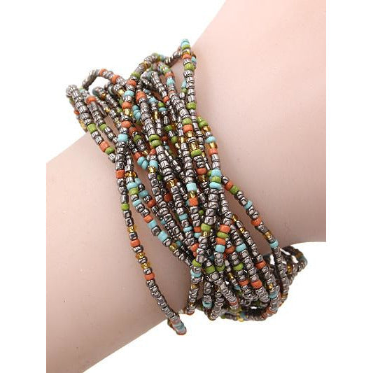 Seed Bead Bracelet -- Choice of Color