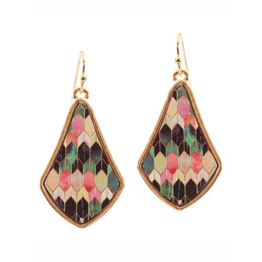 Wood Moroccan Earrings -- Choice of Color