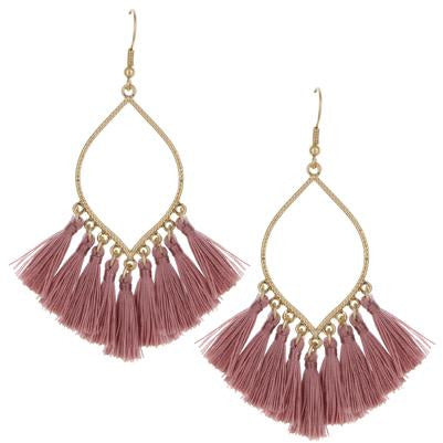 Tassel Earrings -- Blush Pink