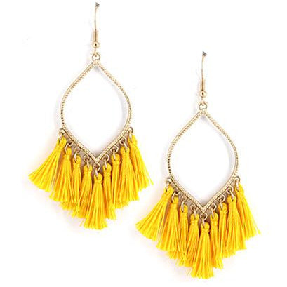 Tassel Earrings -- Yellow