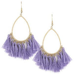 Tassel Teardrop Earrings -- Lilac