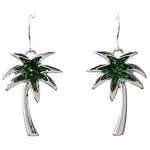 Glitter Palm Tree Earrings