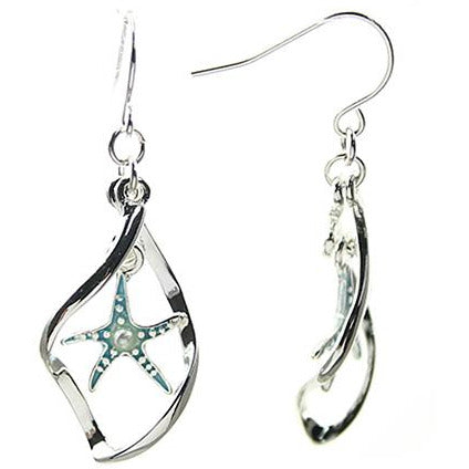 Curved Starfish Earrings