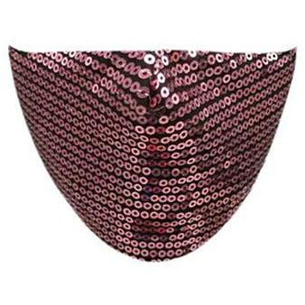 Pale Pink Sequin Face Mask - Adult