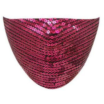 Fuchsia Sequin Face Mask - Adult