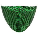 Green Sequin Face Mask - Adult