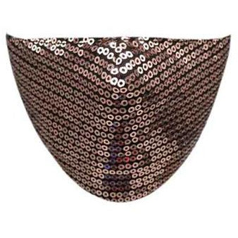 Rose Gold Sequin Face Mask - Adult