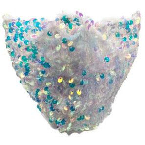 White Sequin Face Mask - Adult