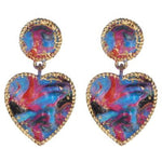 Dangle Heart Earring -- Multi