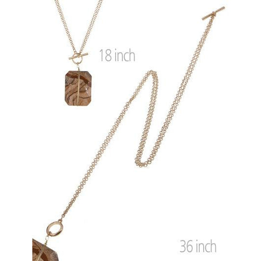 Long/Short Toggle Necklace -- Choice of Color
