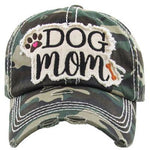 Dog Mom Hat - Dark Green Camo