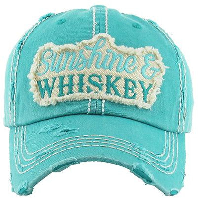 Sunshine & Whiskey Hat -- Choice of Color