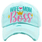 Wife Mom Boss Hat -- Choice of Color