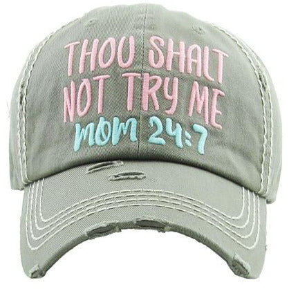 Thou Shalt Not Try Me Hat -- Choice of Color
