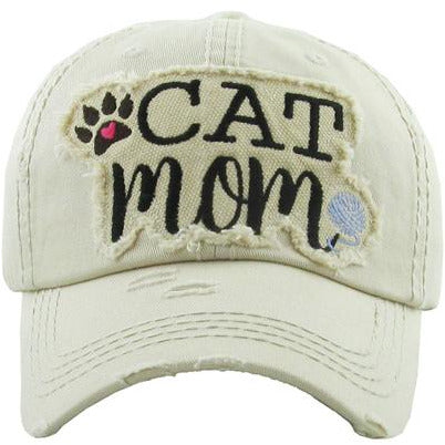 Cat Mom Hat -- Choice of Color