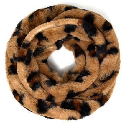 Leopard Infinity Scarf -- Brown