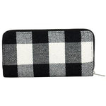Buffalo Plaid Wallet -- White