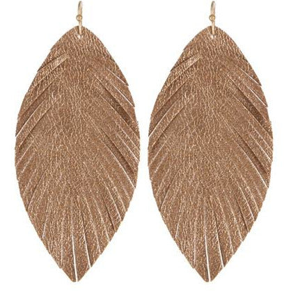 Shiny Leaf Earrings