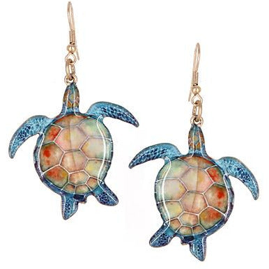 Turtle Print Earrings