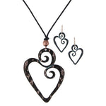Swirling Heart Necklace & Earring Set