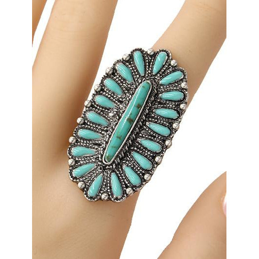Western Turquoise Ring -- Choice of Style