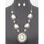 Western Statement Concho Necklace & Earring Set
