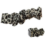 Animal Print Stretch Watch Band -- White