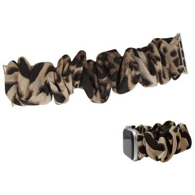 Animal Print Stretch Watch Band -- Light Brown