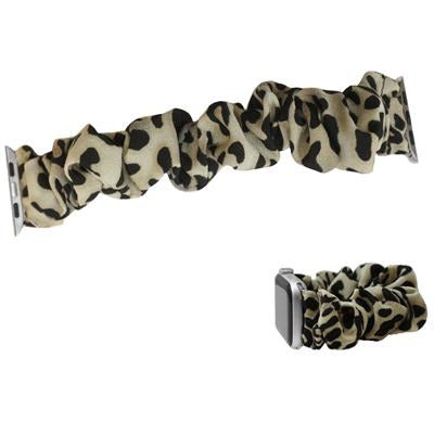 Animal Print Stretch Watch Band -- Beige