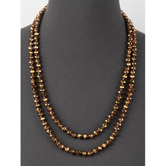 Bronze -- Knotted Necklace