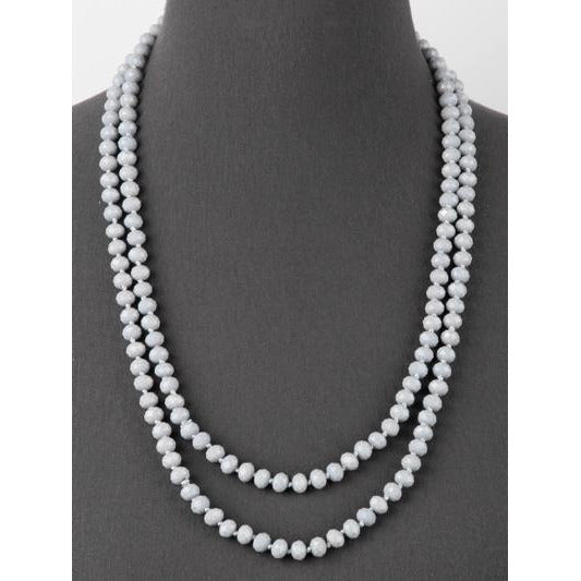 Gray-- Knotted Necklace