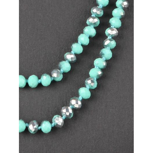 Mint Abalone -- Knotted Necklace