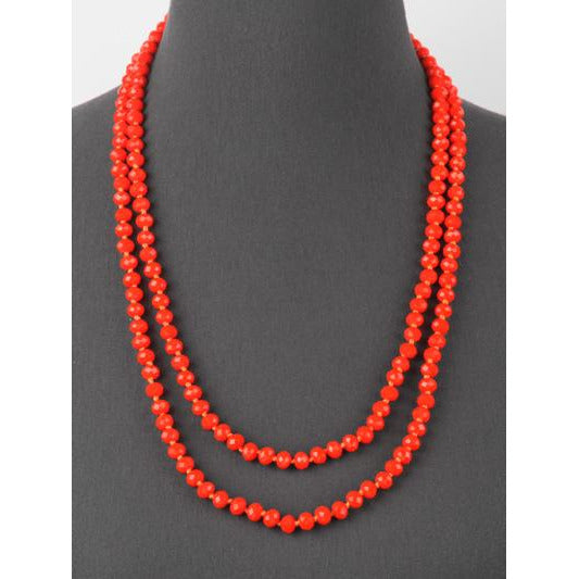 Orange -- Knotted Necklace