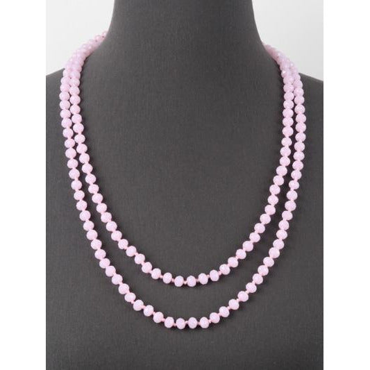 Pink -- Knotted Necklace