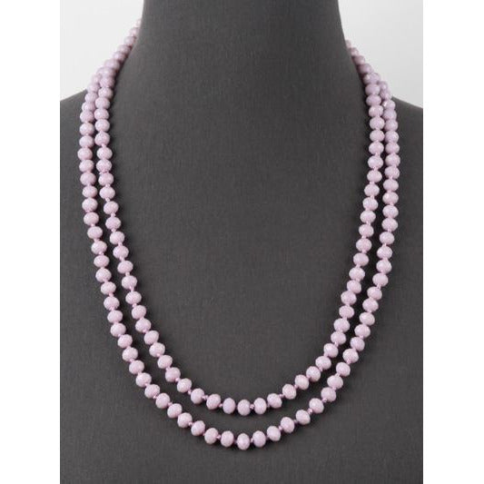 Lavender -- Knotted Necklace