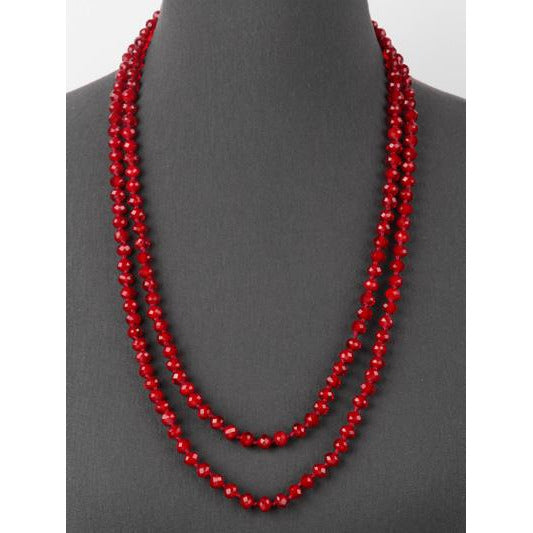Burgundy -- Knotted Necklace