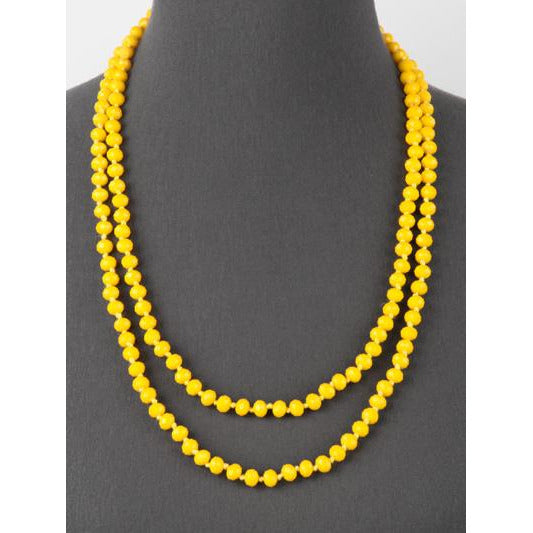 Yellow -- Knotted Necklace
