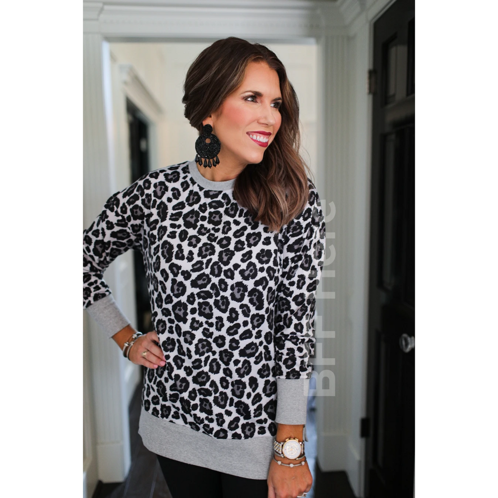 Cabin Nights Gray Leopard Everyday Tunic