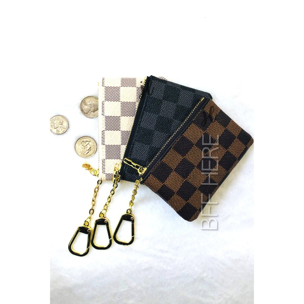Marco Checkered Keychain -- Choice of Color