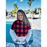 Bella Buffalo Plaid Kangaroo Pullover