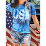 USA Blue Tie Dye T-Shirt