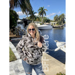 Hunter Grey Camo Faux Fur Pullover