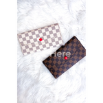 Kenneth Checkered Foldover Wallet — Choice of Color
