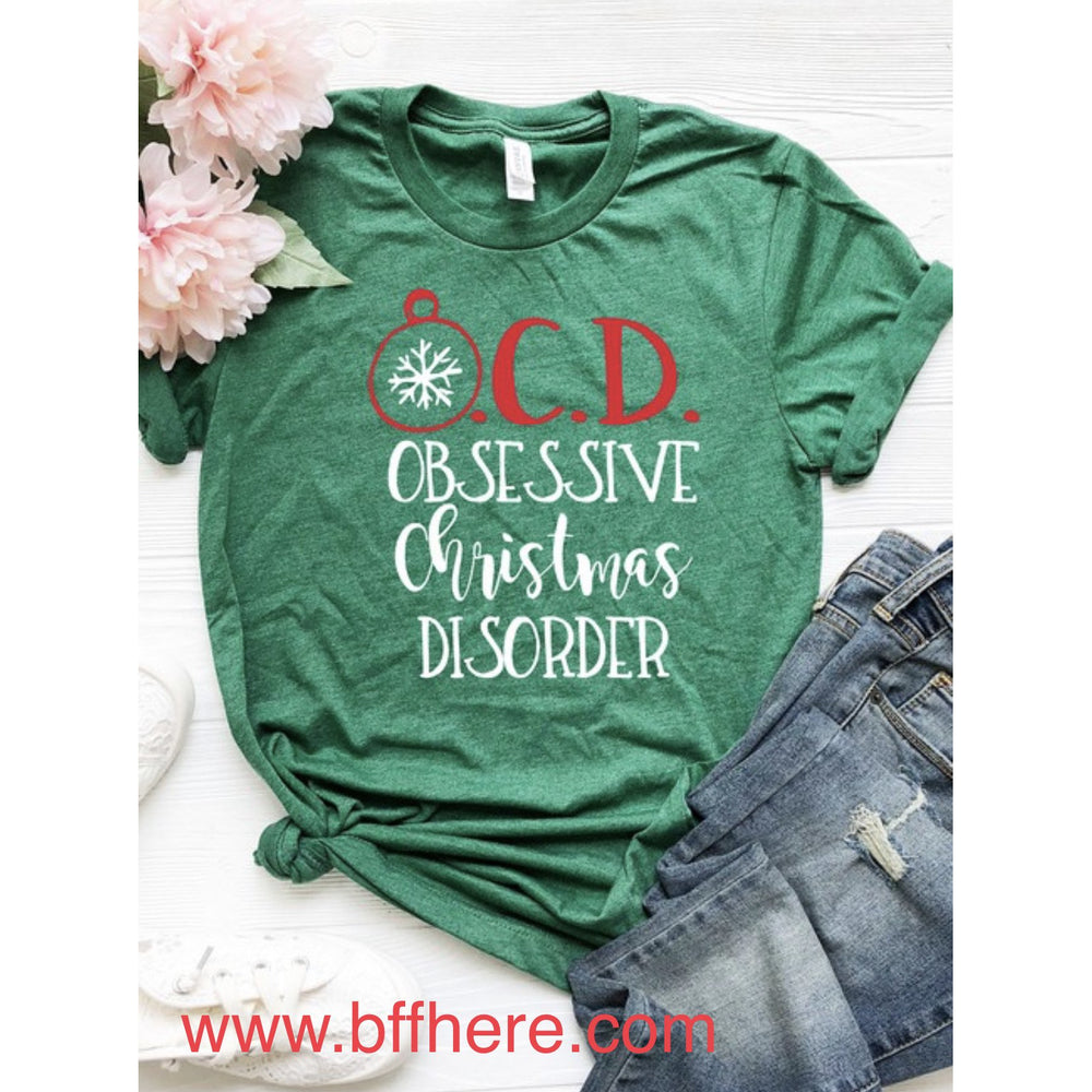 OCD Christmas Graphic Tee